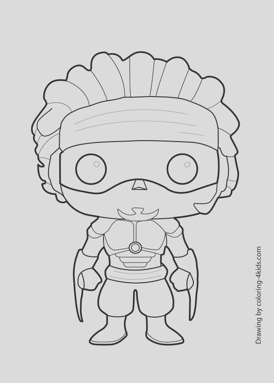 funko coloring pages sketch templates