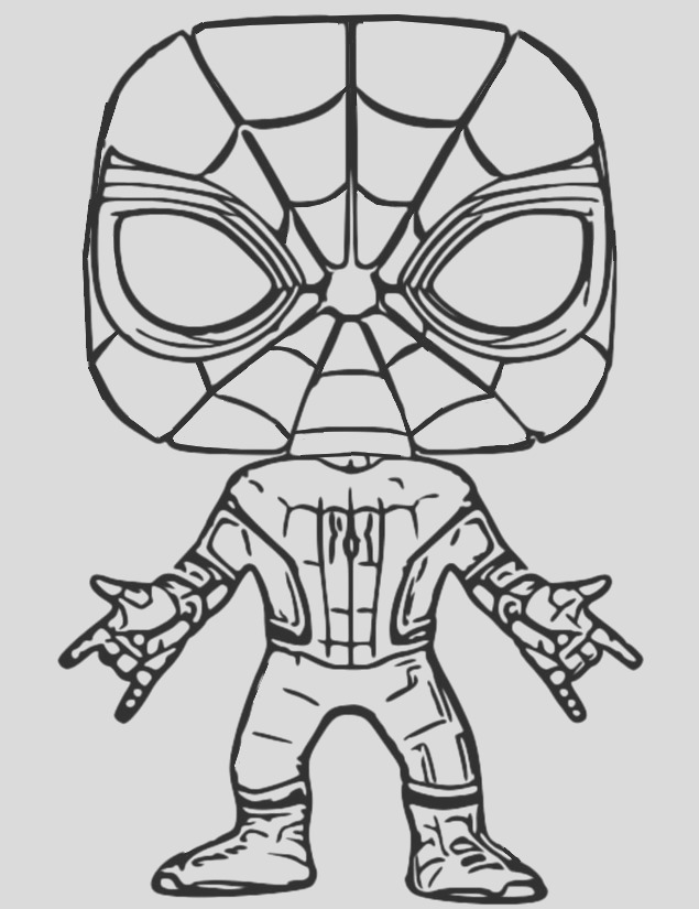 coloring pages id 6998 funko pop marvel spider man