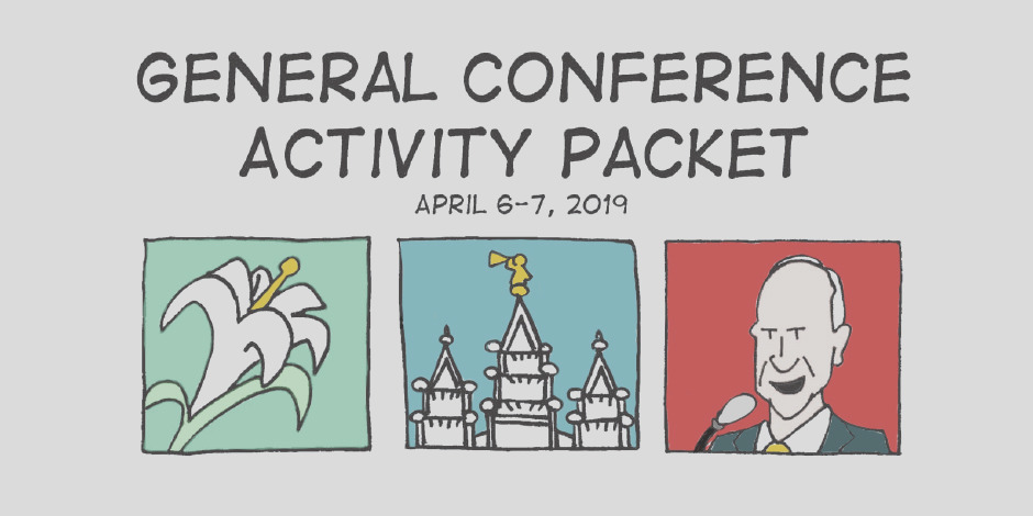 free general conference activity coloring activity packets april 2019