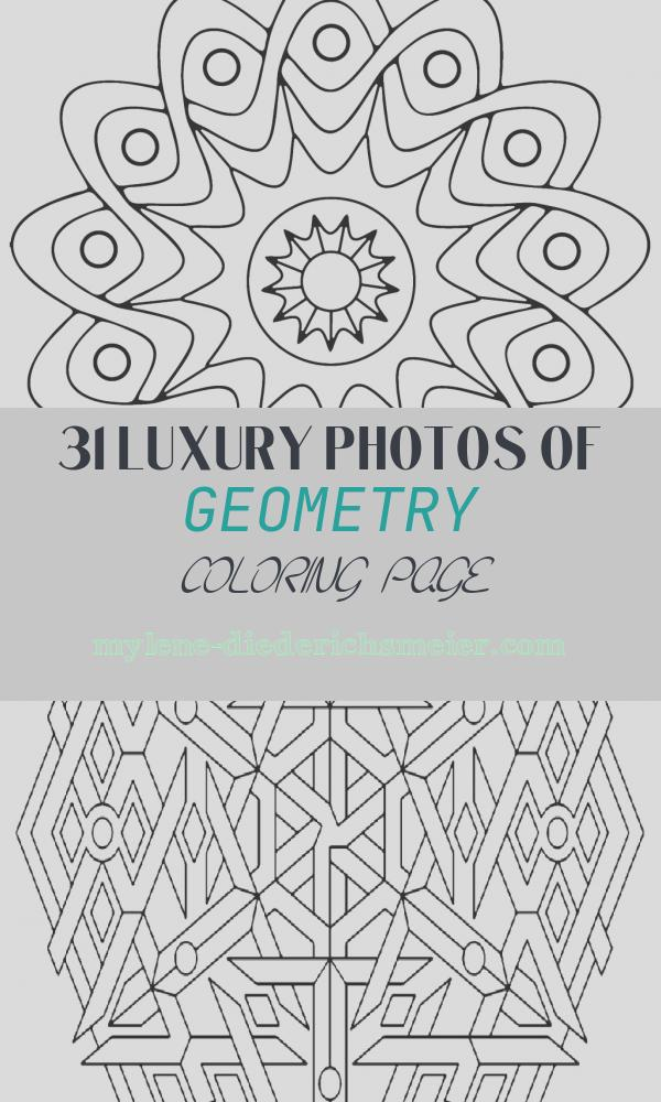 Geometry Coloring Page Beautiful Free Printable Geometric Coloring Pages for Kids