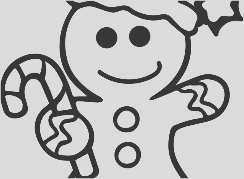 gingerbread cookie coloring page