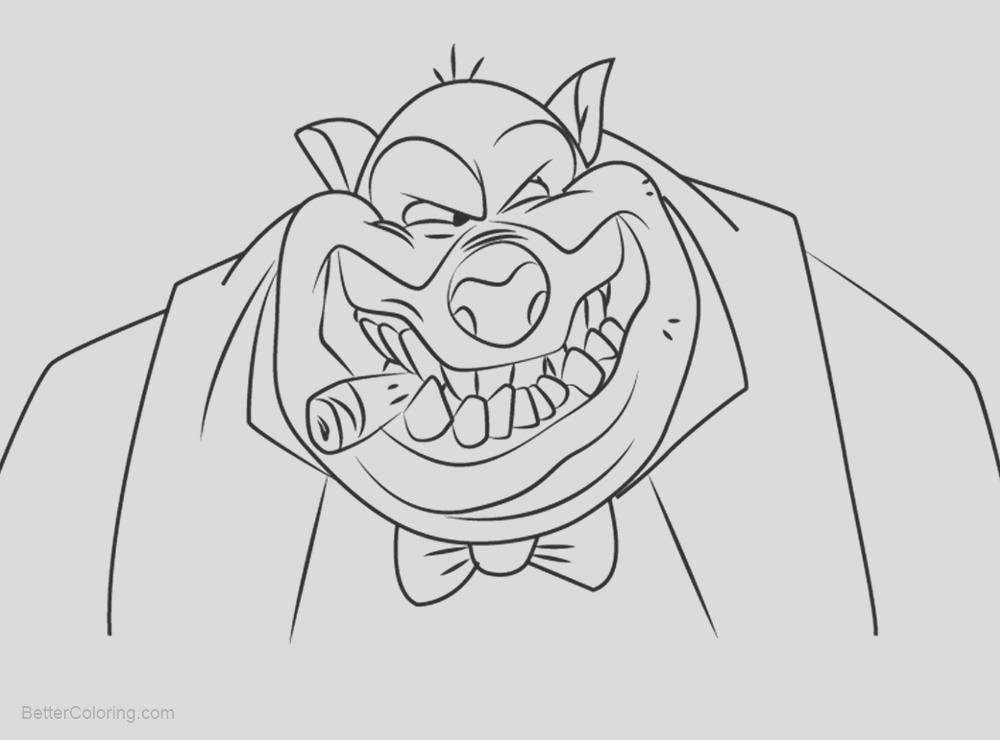 all dogs go to heaven coloring pages carface carruthers