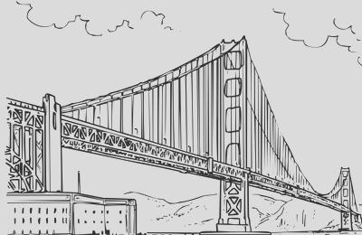mt rainier and downtown seattle coloring page