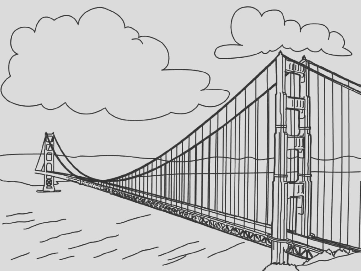 bridge coloring pages
