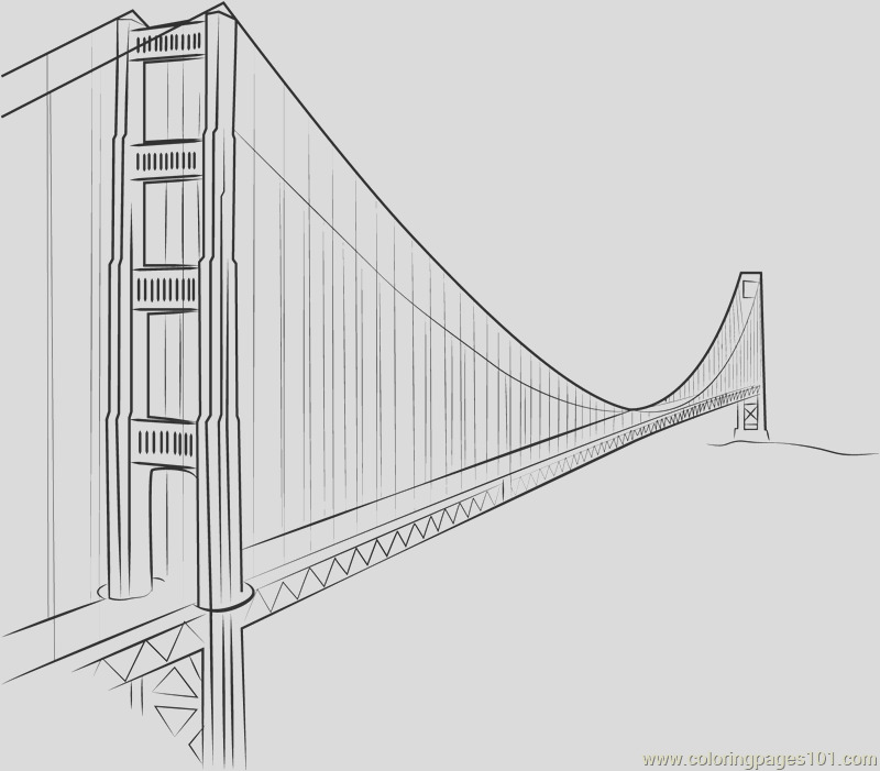 golden gate bridge yang ming line coloring page