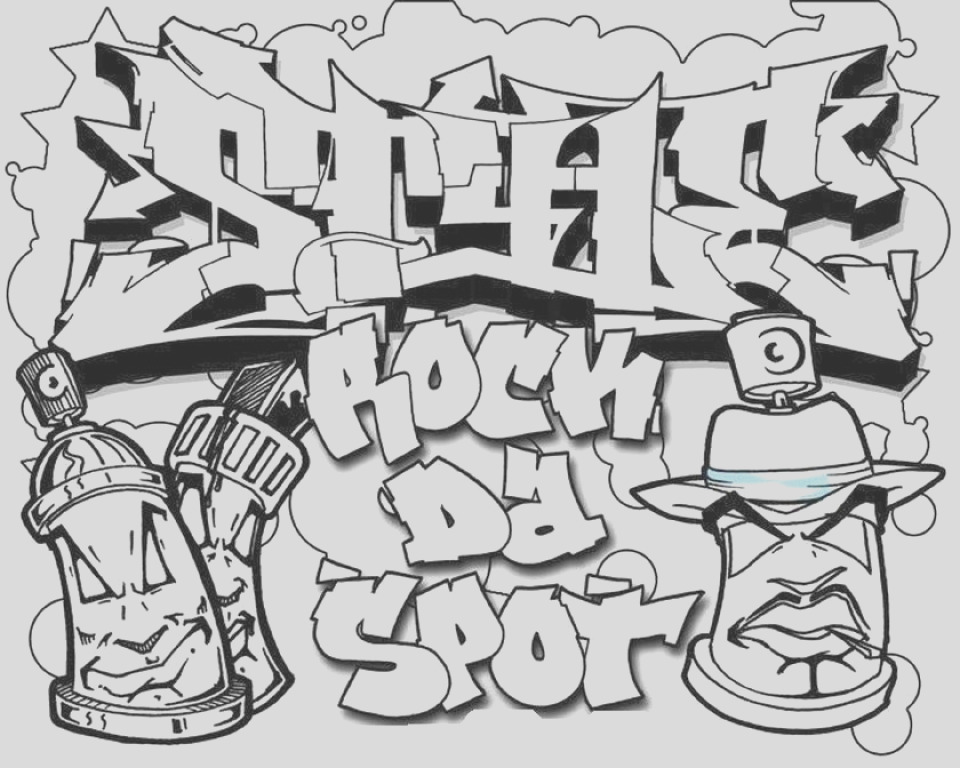 printable graffiti coloring pages online
