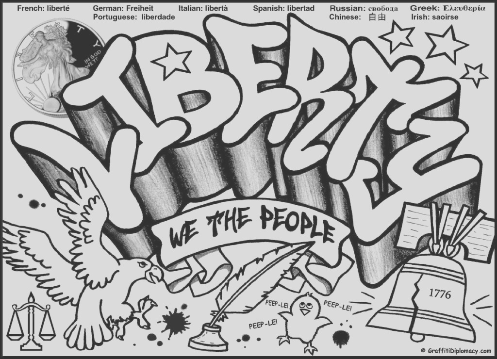 graffiti words coloring pages for