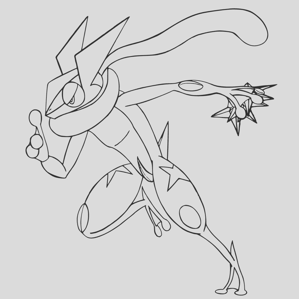 ash greninja coloring pages