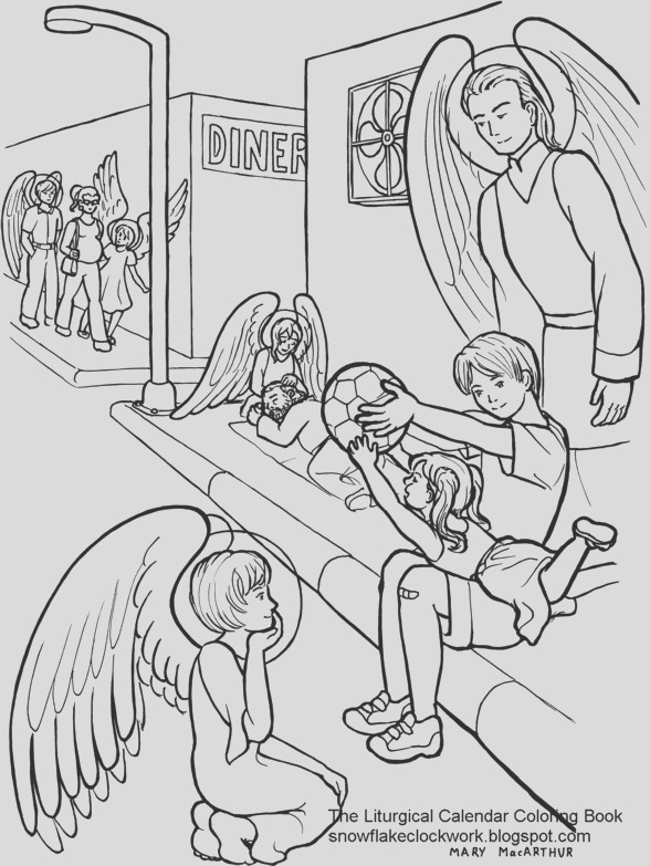 guardian angels coloring page
