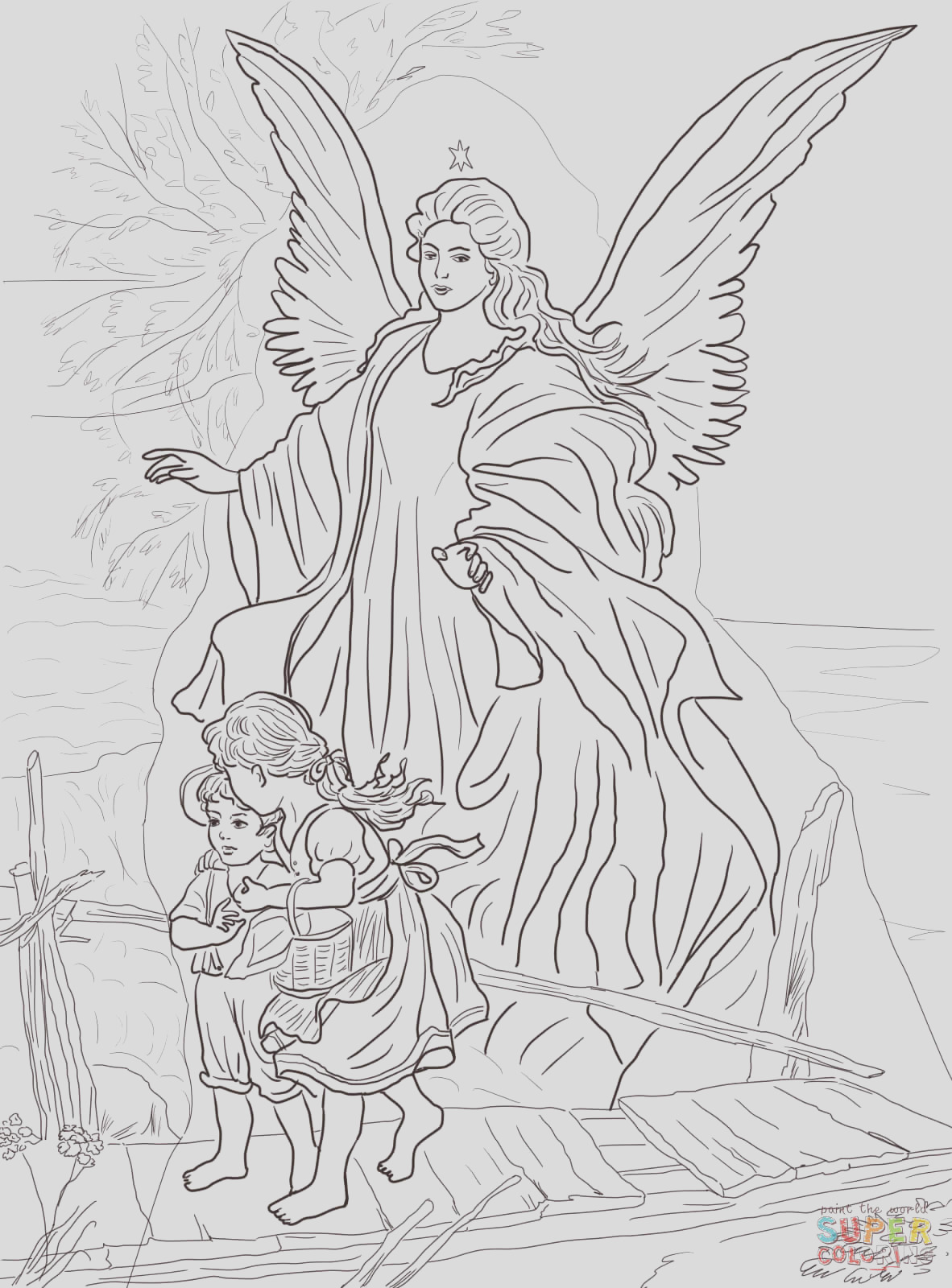 children are protected by guardian angel