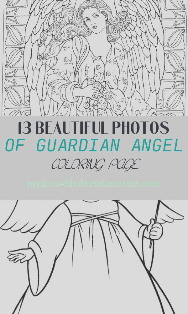 Guardian Angel Coloring Page New Guardian Angel Coloring Page at Getcolorings