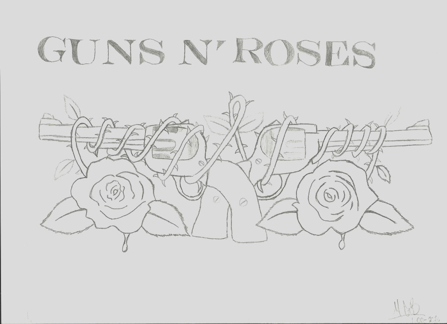 guns n roses coloring pages sketch templates