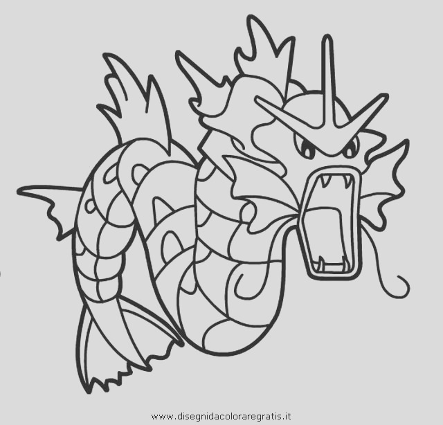 mega gyarados coloring sheet sketch templates
