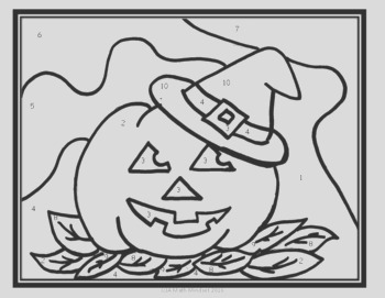 Coloring Sheet Constant Rate of Change Halloween Theme