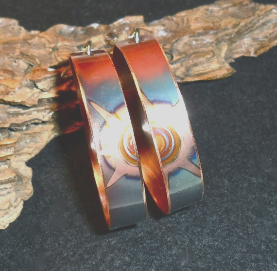 gorgeous heat patinated copper jewelry