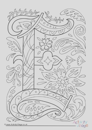 i spy alphabet colouring page e