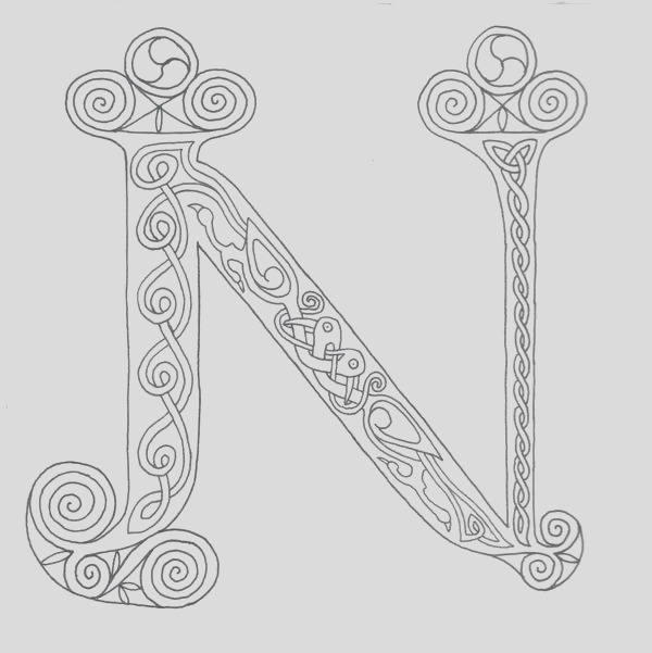 Illuminated N for coloring