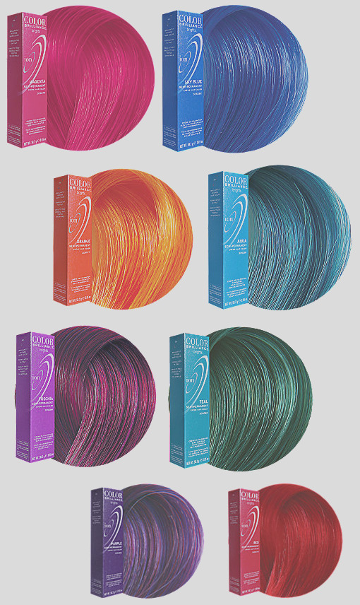 hair dye swatches charts