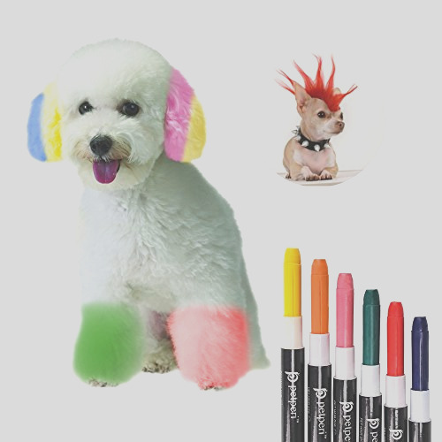 petperi professional temporary dog hair dye pens set 6pcspack pletely non toxic and safe