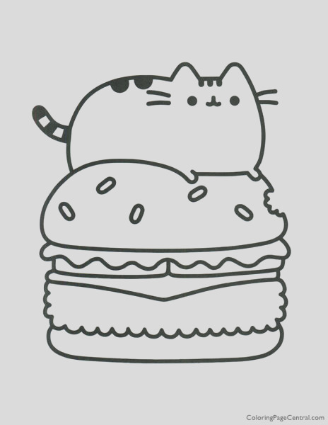 pusheen coloring page 11