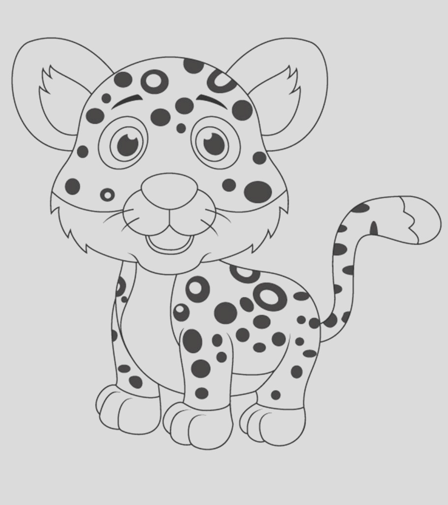 leopard coloring pages toddler