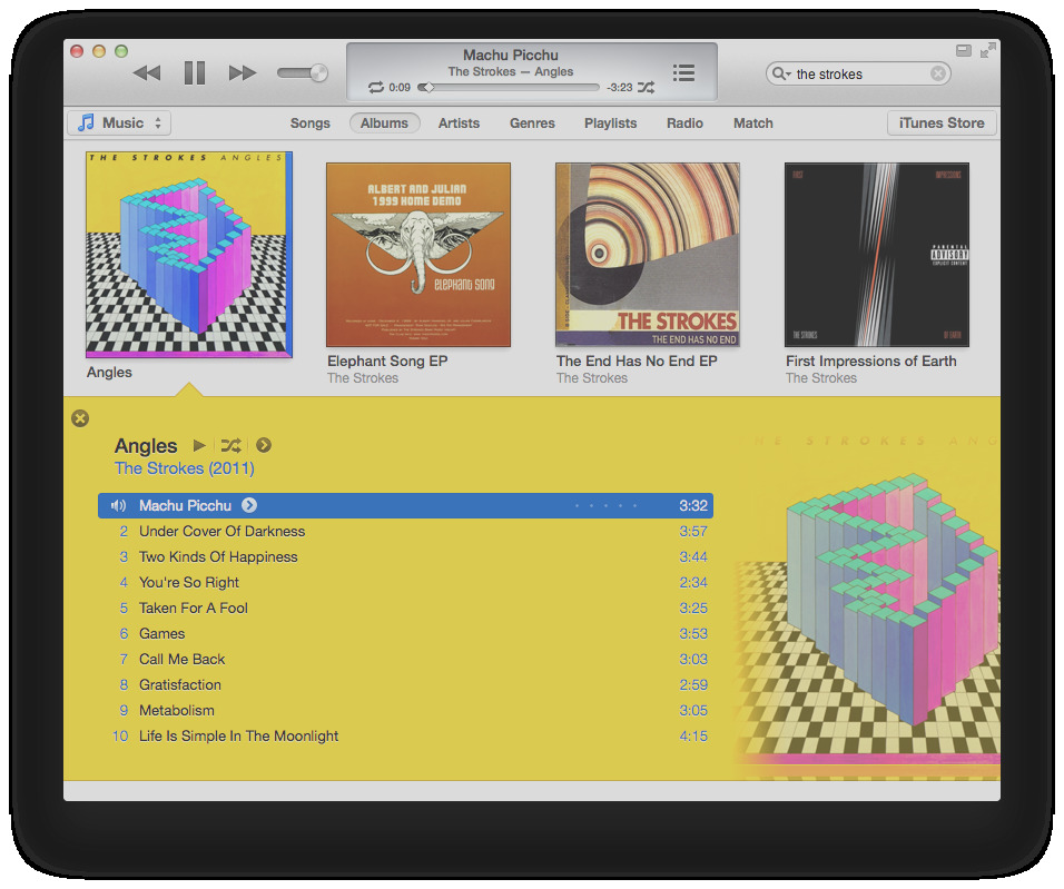 how does the algorithm to color the song list in itunes 11 work