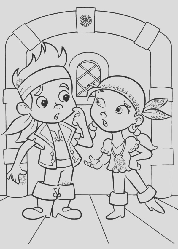 jake and the neverland pirates halloween coloring pages