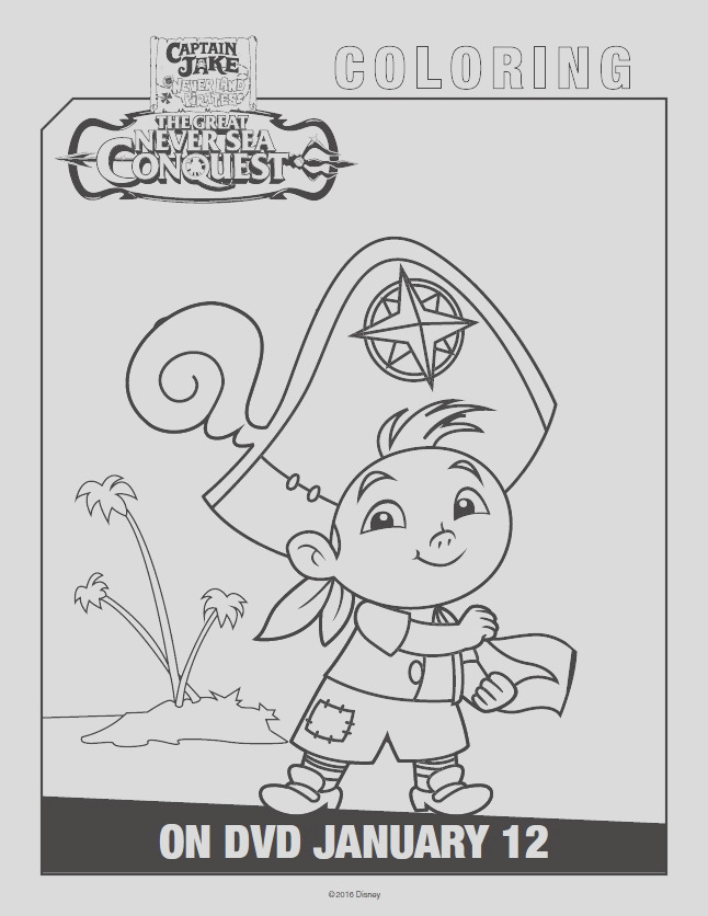 jake and the never land pirates coloring pages activity sheets