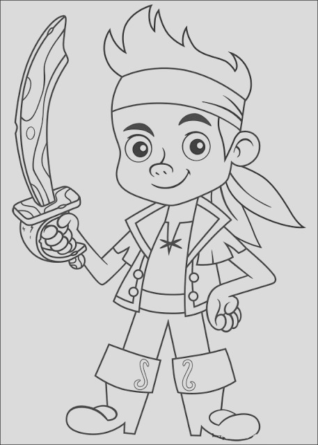 jake and neverland pirates coloring