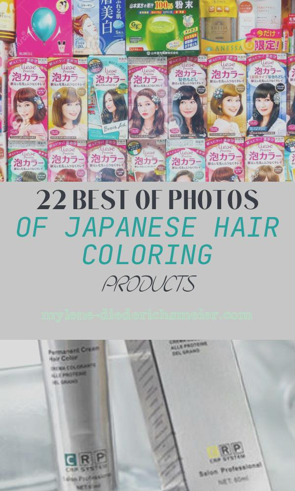 Japanese Hair Coloring Products Awesome Japanese Foamy Bubble Hair Dye Products Display In