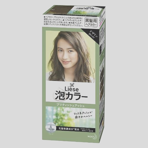 liese kao bubble hair color prettia british ash