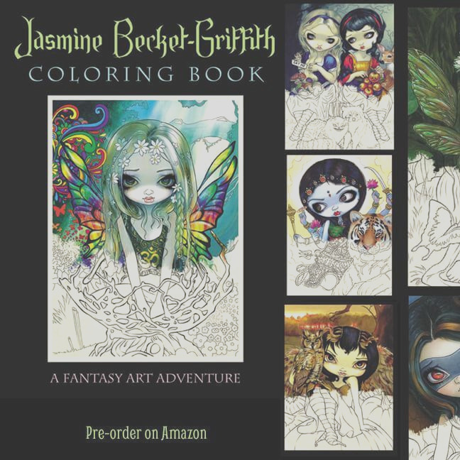jasmine becket griffith coloring book pre order on