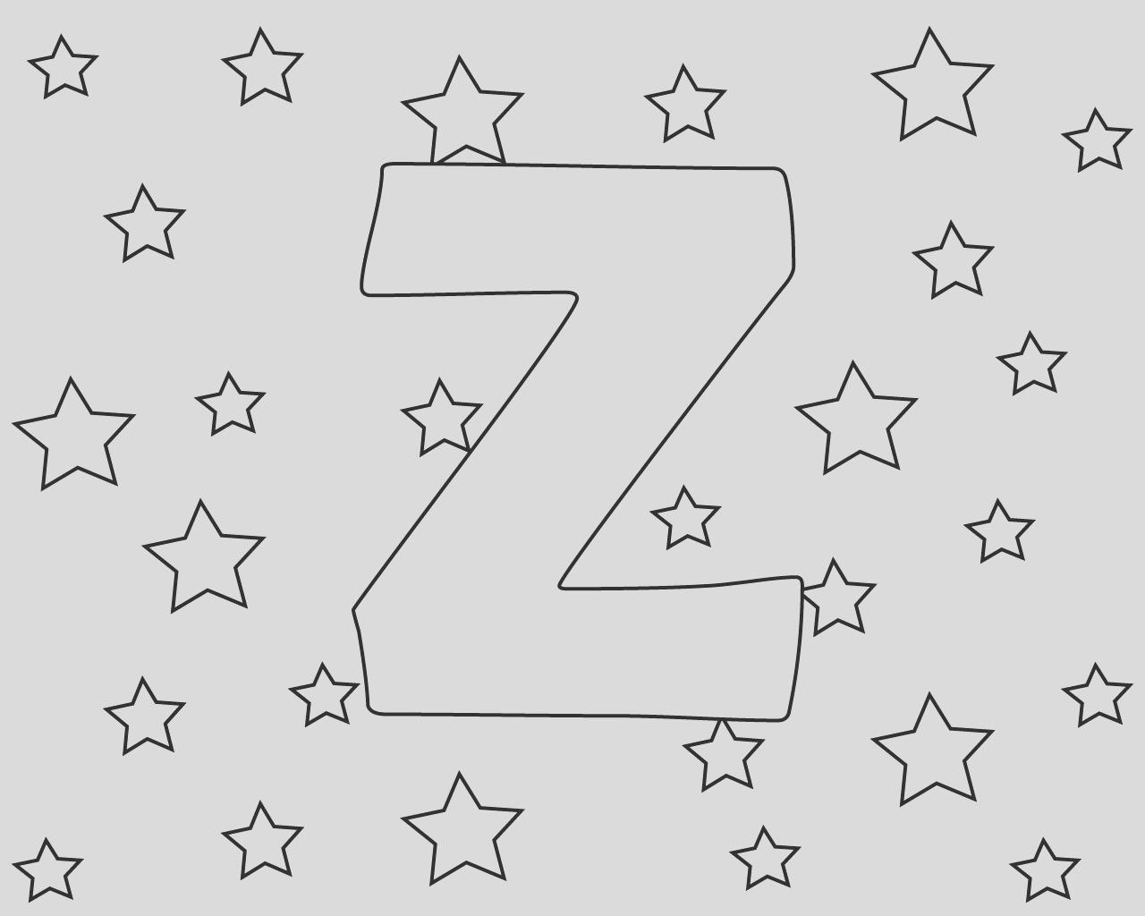 the letter z coloring pages