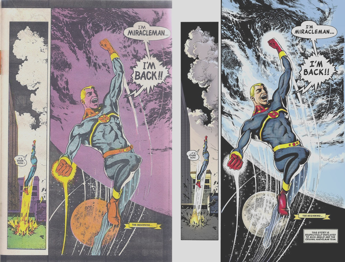 your modern color palette talks a lot but it aint sayin nothing a consideration of the miracleman re color job