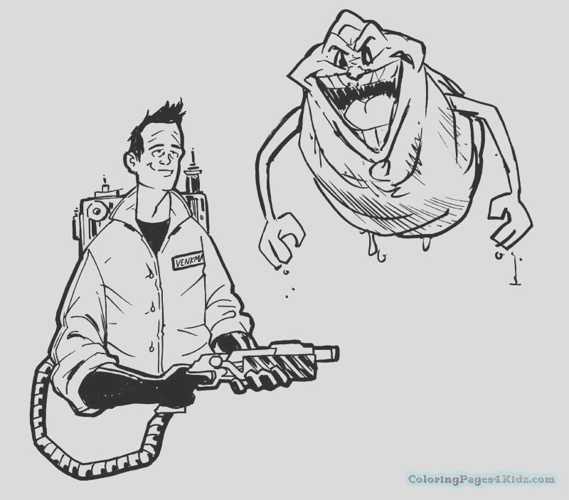 ghostbusters coloring pages 1044