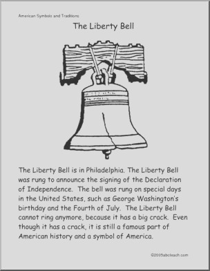 color and read us symbols liberty bell primary
