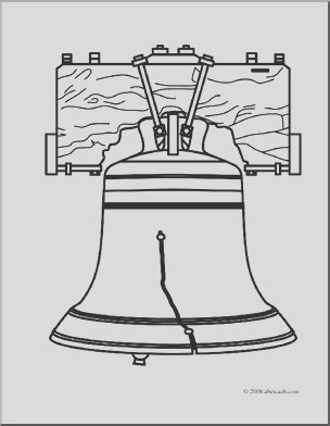 clip art liberty bell coloring page