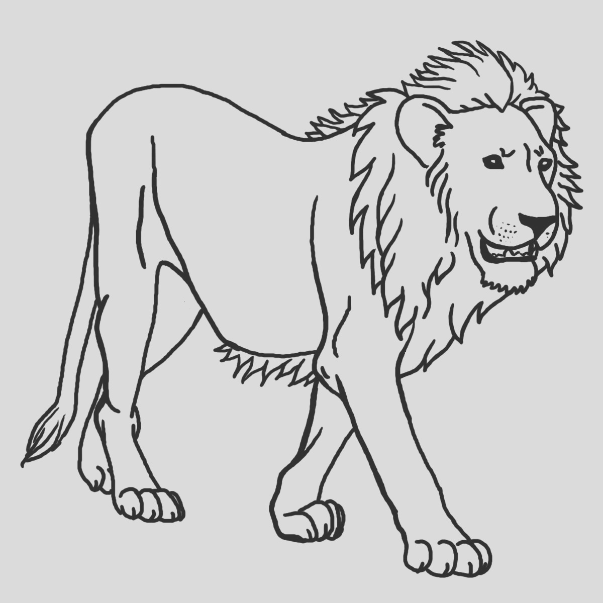 image=lion Coloring for kids lion 1
