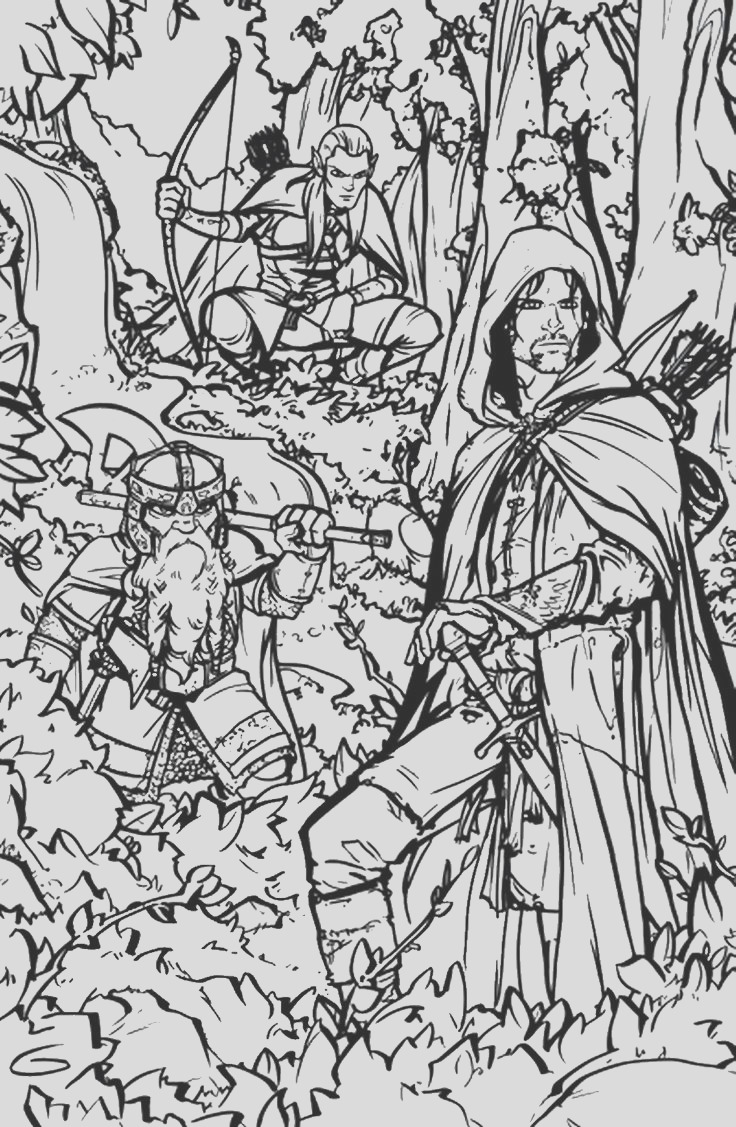 lord of the rings colouring pages