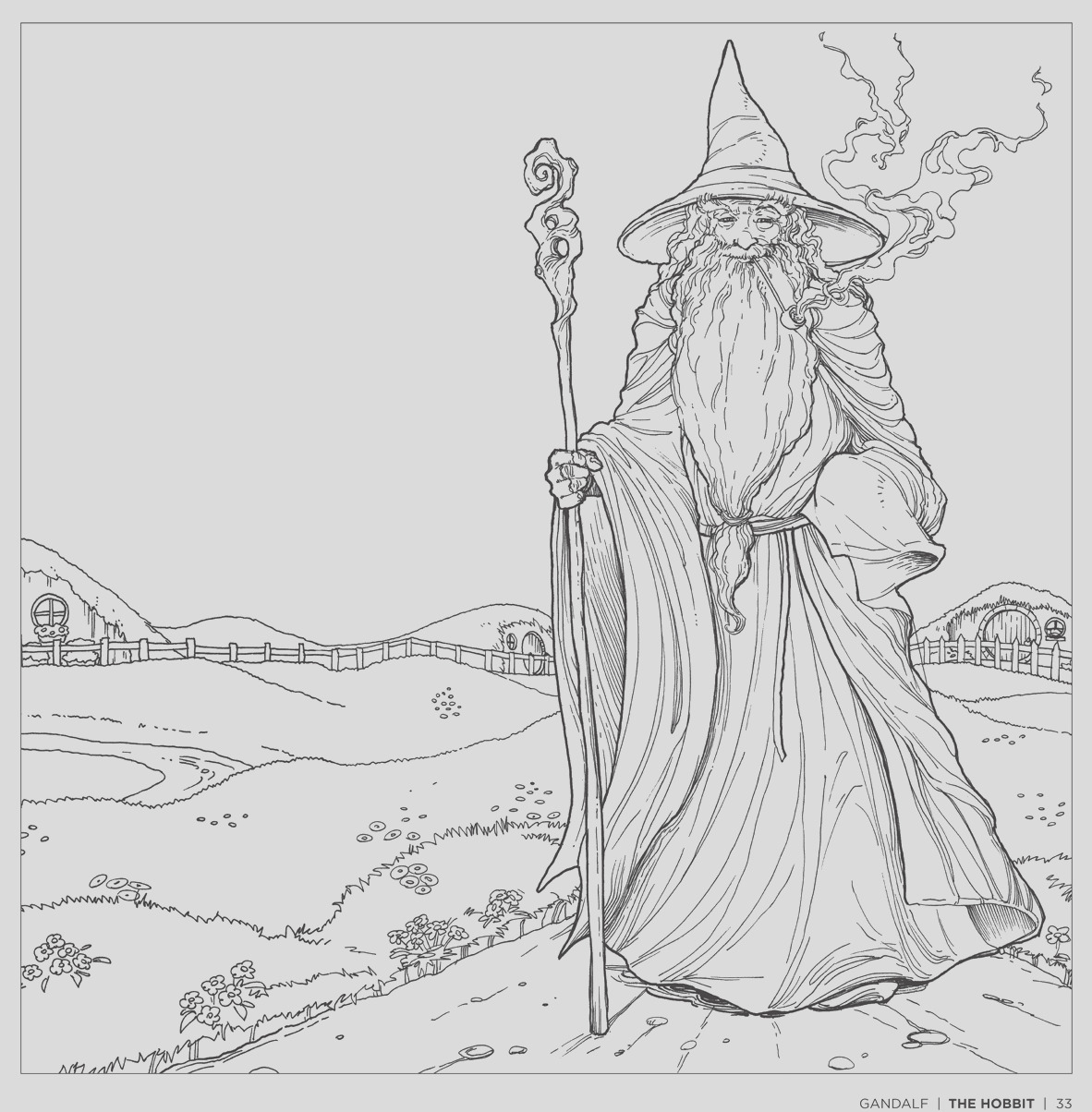 tolkiens world a colouring book free pattern