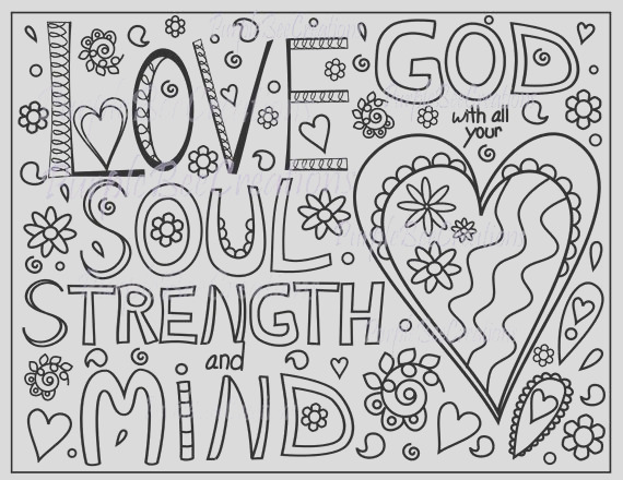 coloring page bible verse coloring page