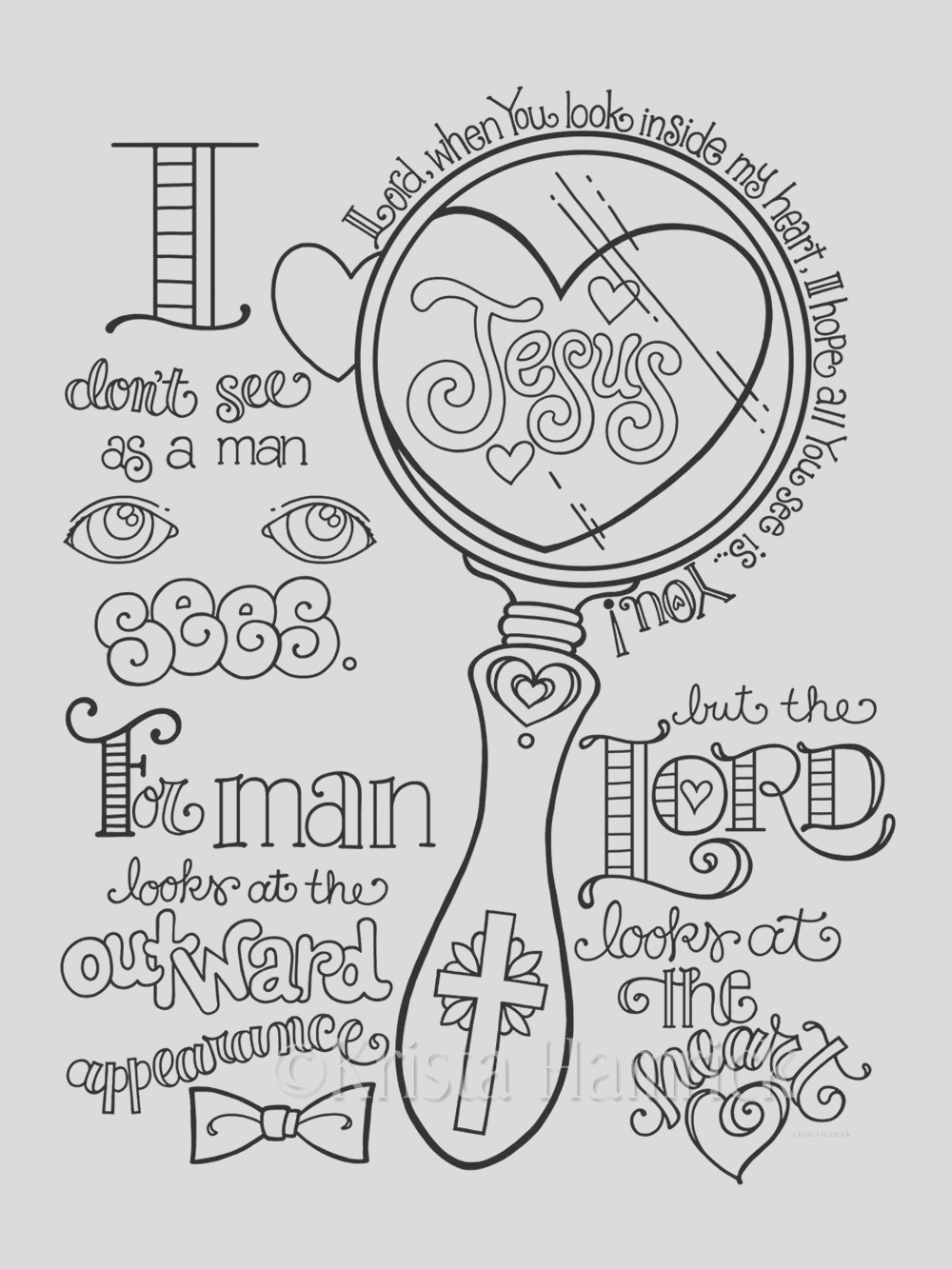 love lord your god coloring page