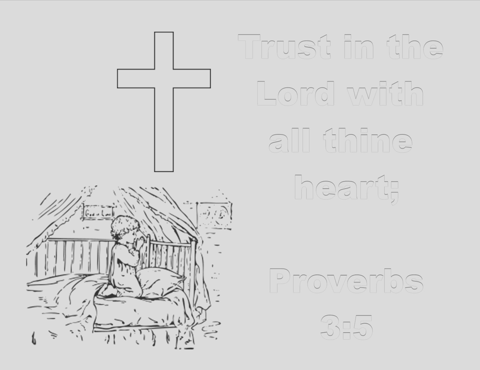 prayer trust in lord coloring pages