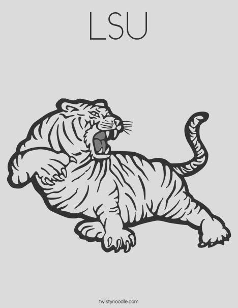 lsu 2 coloring page