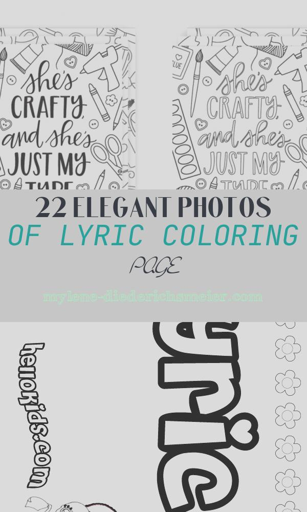 Lyric Coloring Page Inspirational Coloring song Lyric Posters