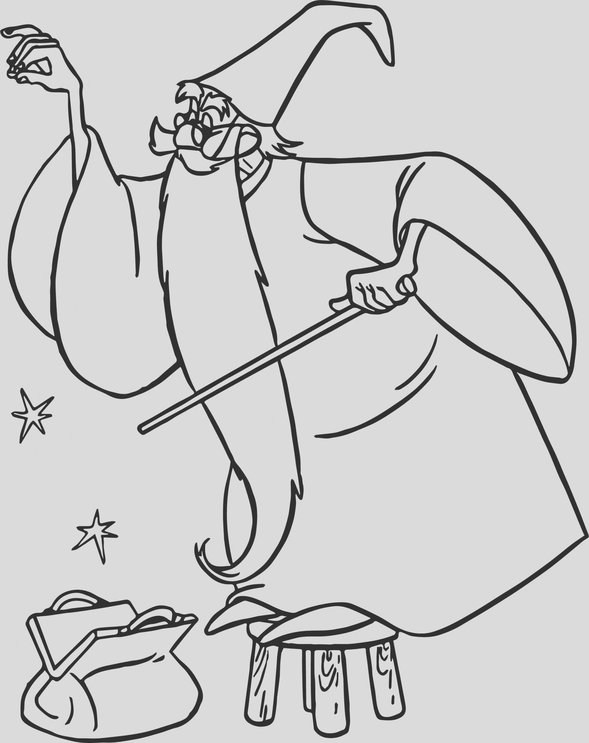 merlin magic coloring page