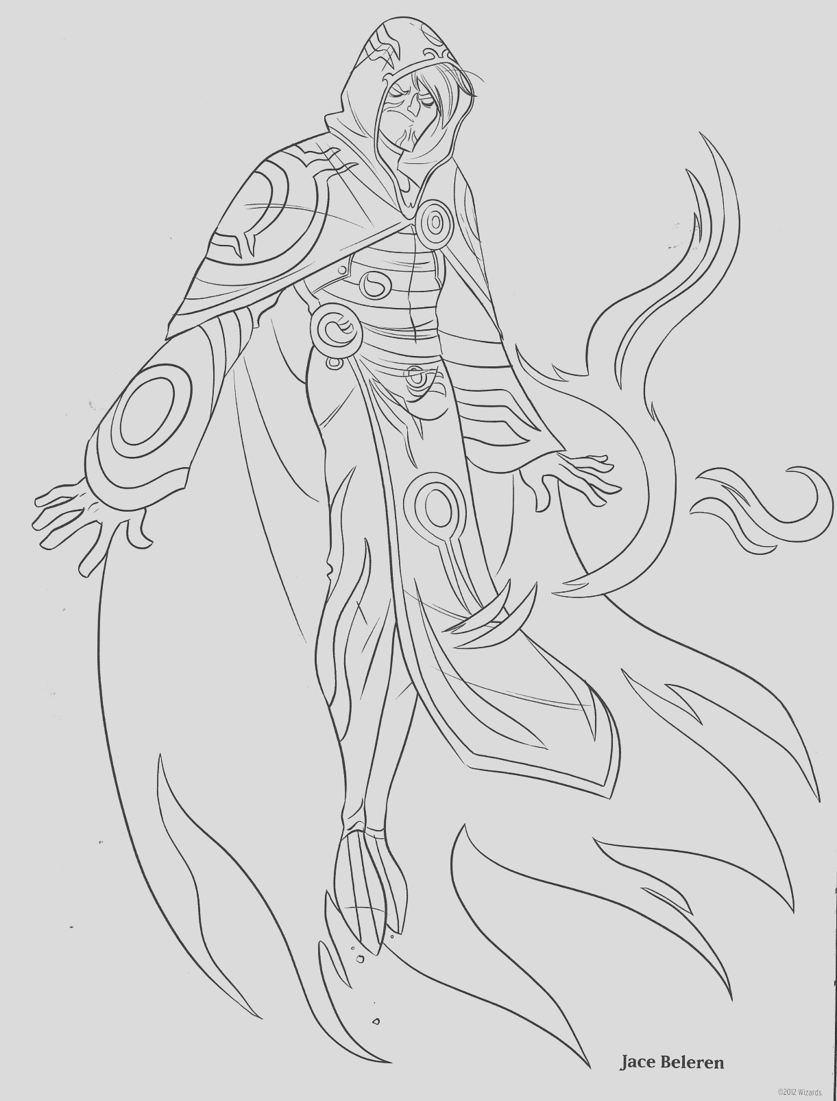 magic the gathering coloring pages