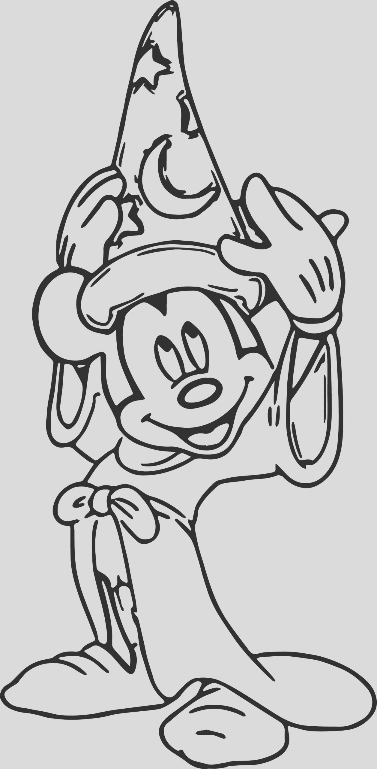 magic mickey mouse hat coloring pages