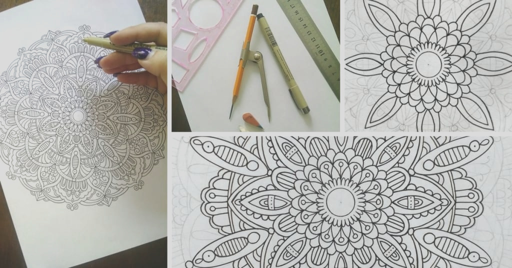 how to draw mandala designs and create your own free coloring pages