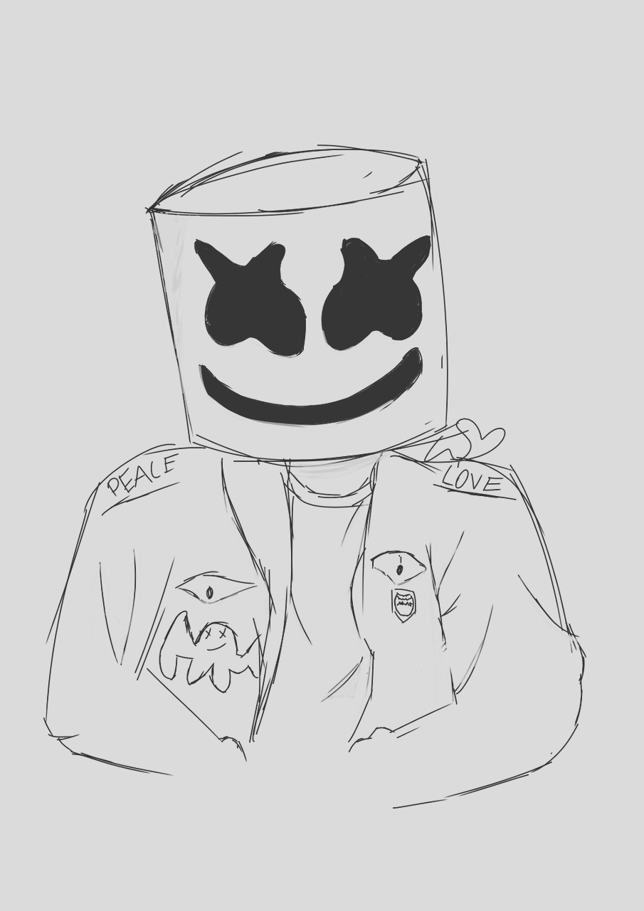 marshmello coloring page